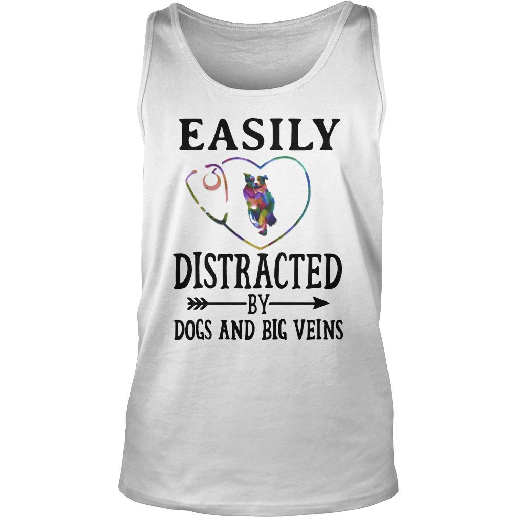 Heart Easily Distracted By Dogs And Big Veins Tank Top