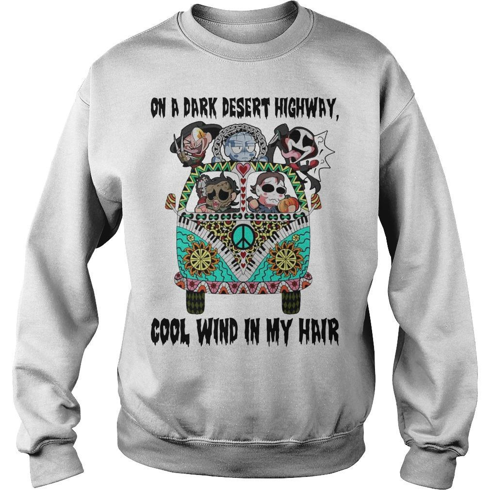 Horror Character Hippie Drive On A Dark Desert Highway Cool Wind My Hair Sweater
