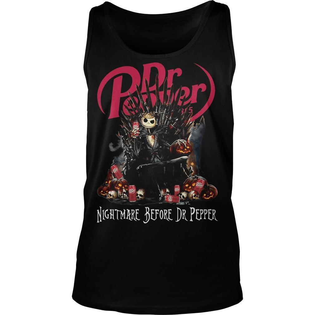 Jack Skellington Dr Pepper Nightmare Before Dr Pepper Tank Top
