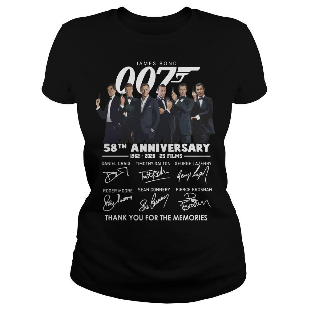 James Bond 007 58th Anniversary Thank You For The Memories Longsleeve