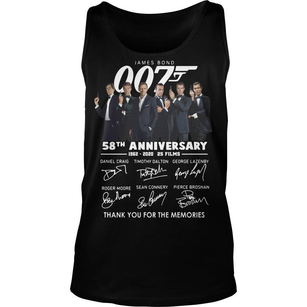 James Bond 007 58th Anniversary Thank You For The Memories Tank Top