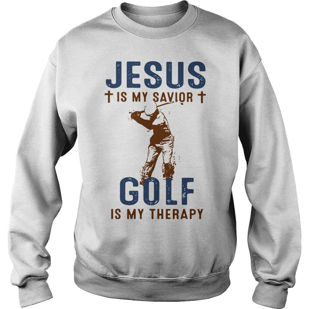 Jesus Is My Savior Golf Is My Therapy Sweater