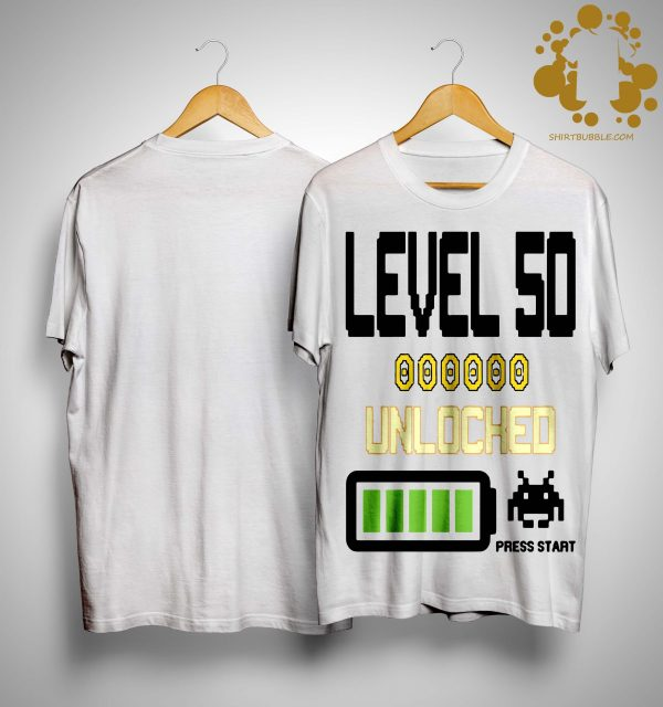 Level 50 Unlocked Press Start Shirt
