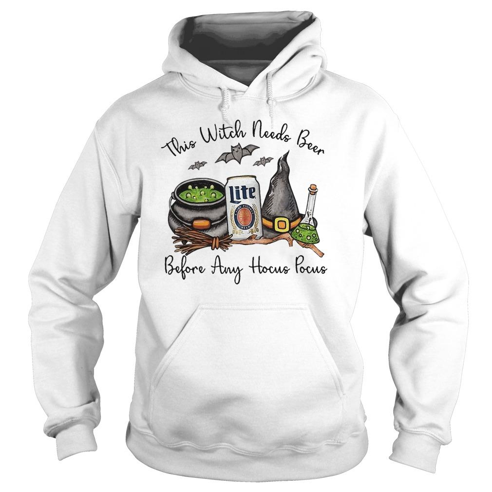 Lite This Witch Needs Beer Before Any Hocus Pocus Hoodie