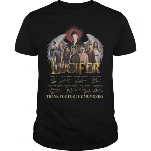 Lucifer Signatures Thank You For The Memories Shirt