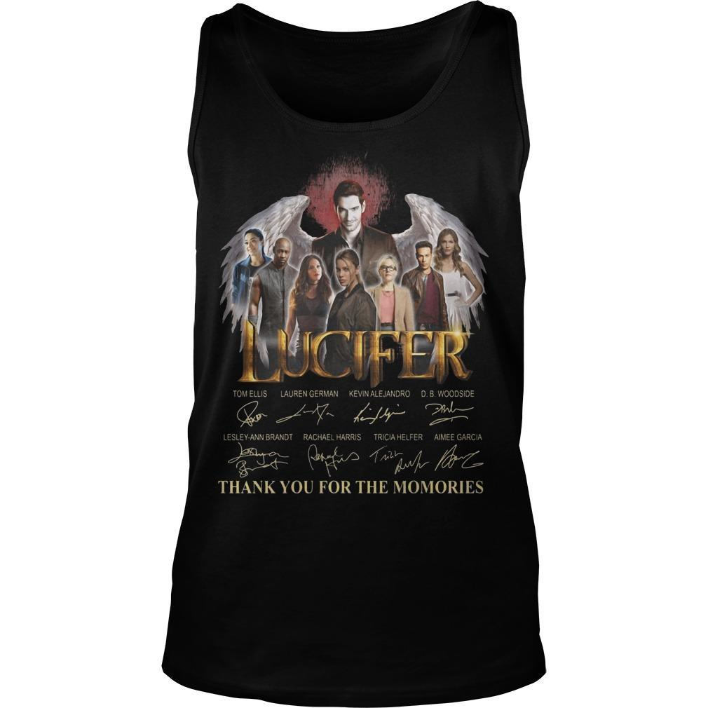 Lucifer Signatures Thank You For The Memories Tank Top
