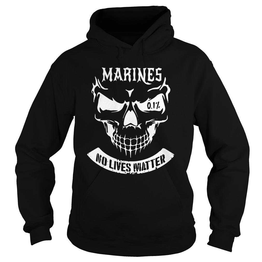Marine No Lives Matter Hoodie