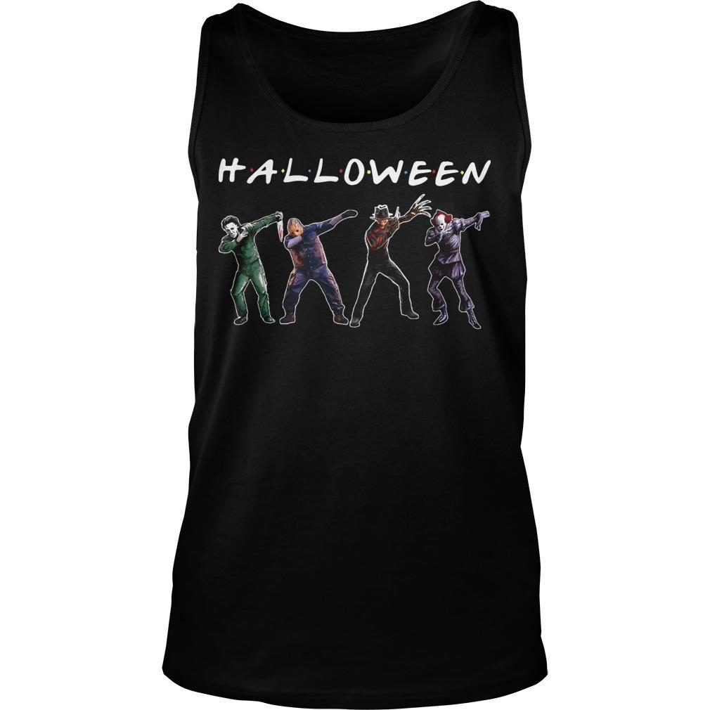 Michael Myers Jason Voorhees Freddy Krueger Pennywise Dabbing Halloween Tank Top