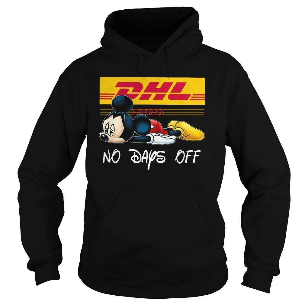 Mickey Mouse Dhl Express No Days Off Hoodie
