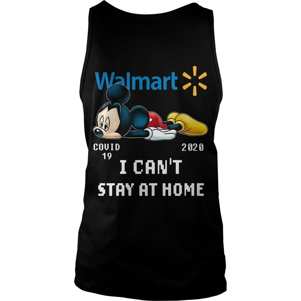 Mickey Mouse Walmart Covid 19 2020 I Can't Stay At Home Tank Top