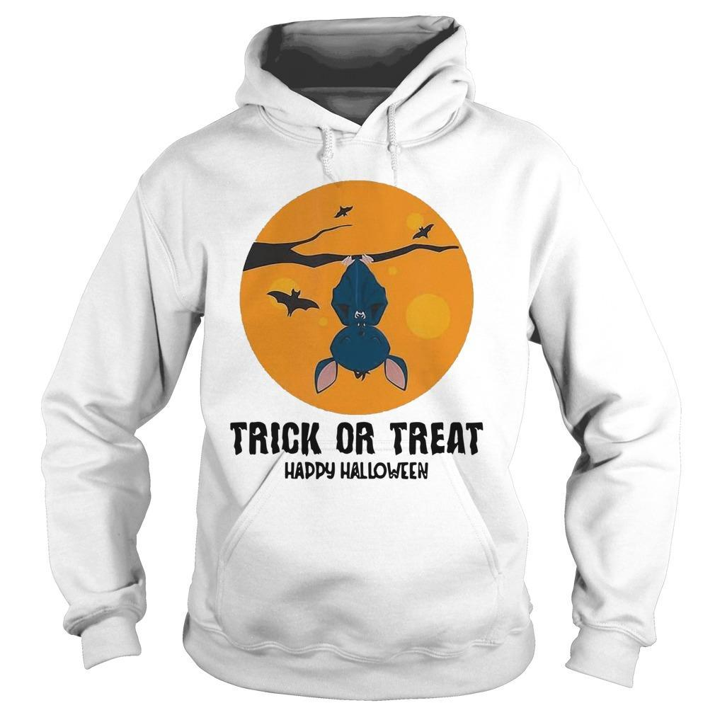 Moon Bat Trick Or Treat Happy Halloween Hoodie