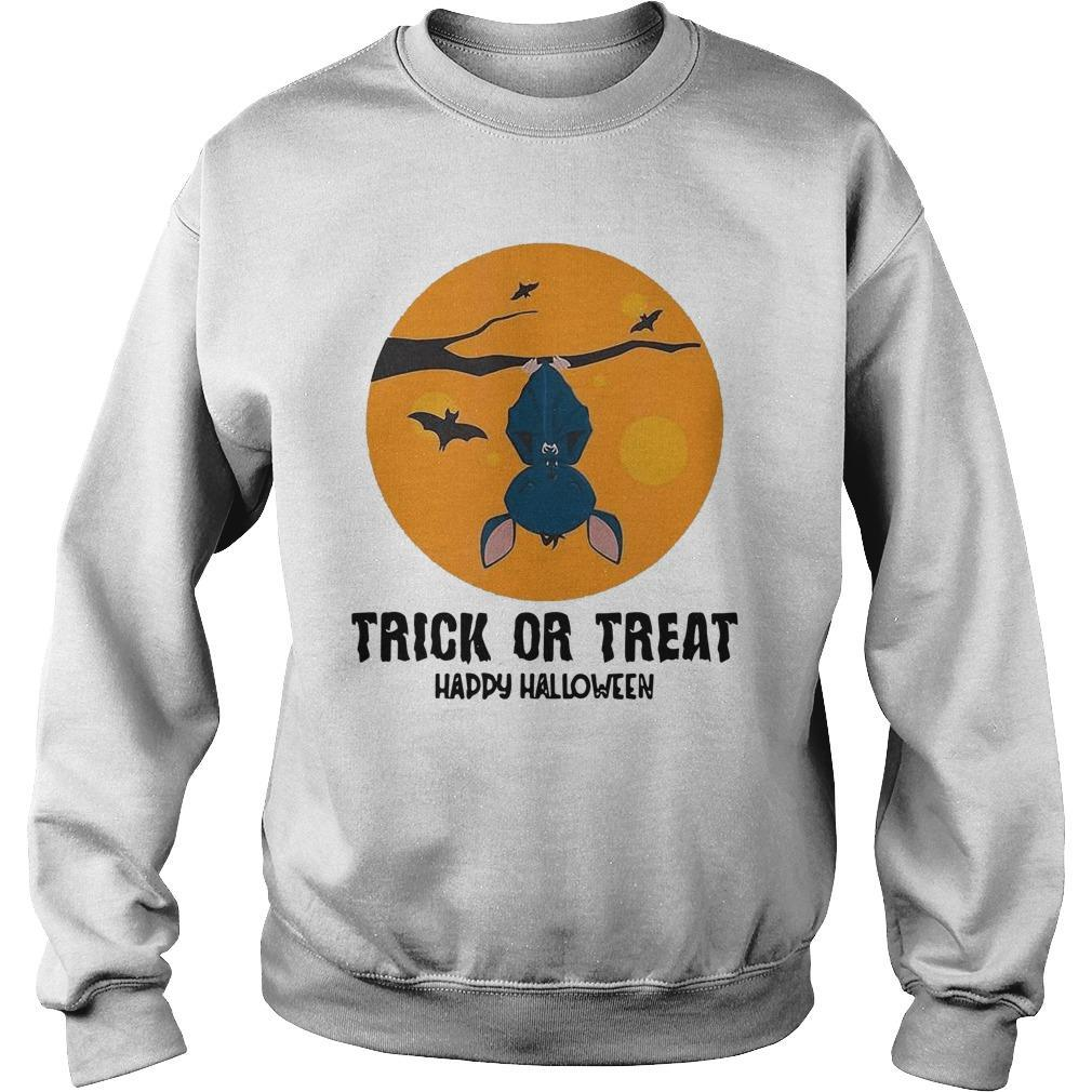 Moon Bat Trick Or Treat Happy Halloween Sweater