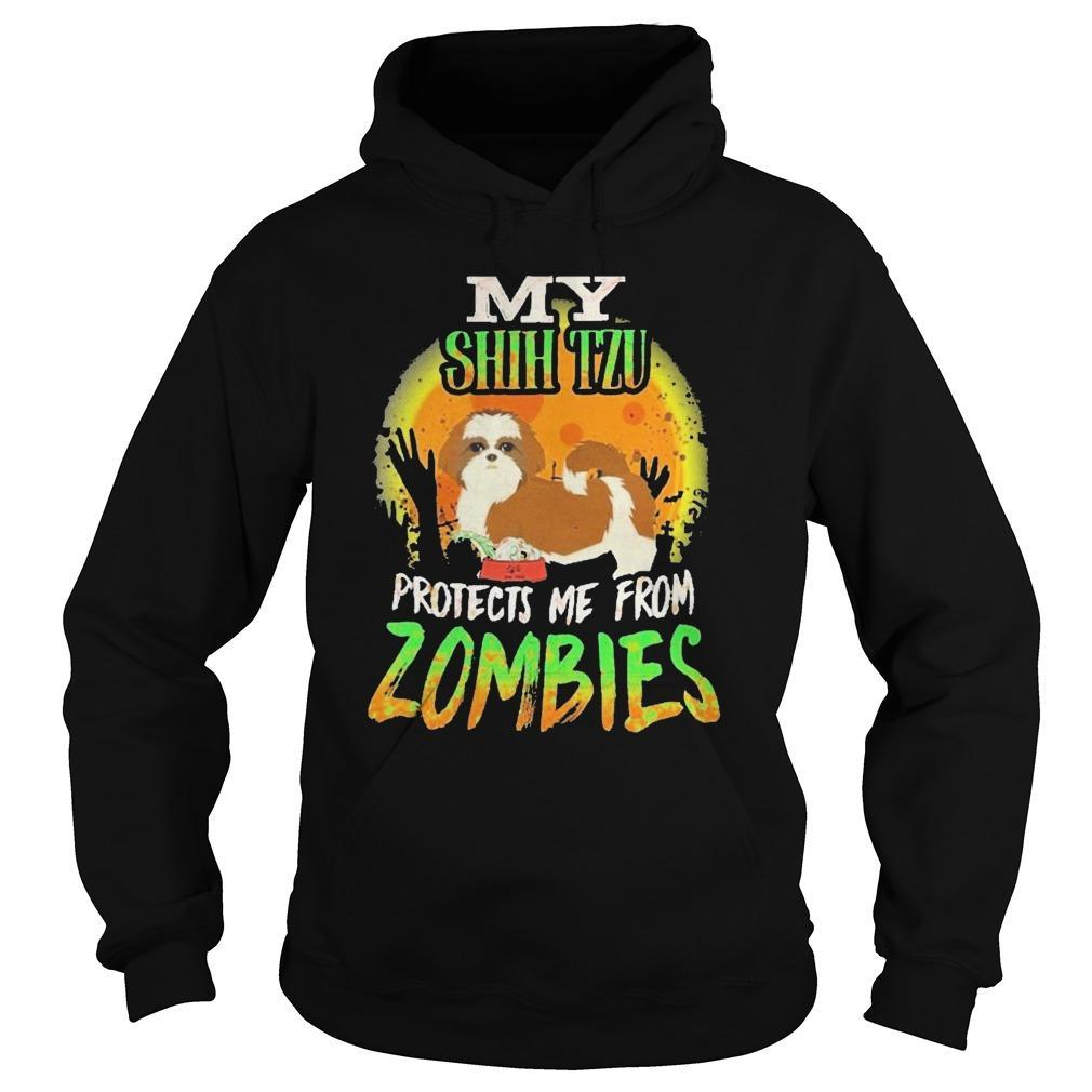 My Shih Tzu Protects Me From Zombies Hoodie