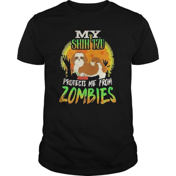 My Shih Tzu Protects Me From Zombies Shirt