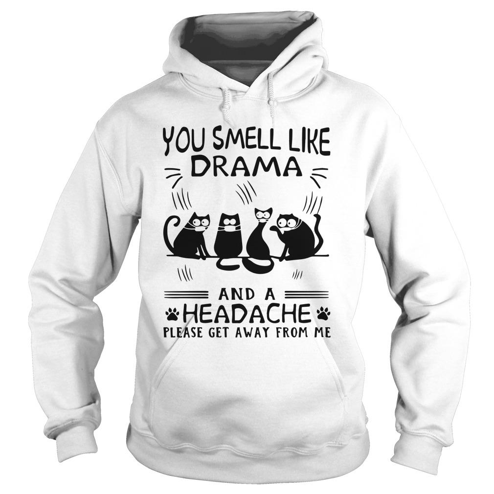 Paw Cats You Smell Like Drama And A Headache Please Get Away From Me Hoodie