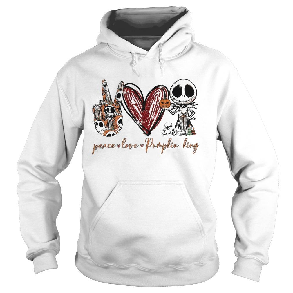 Peace Love Pumpkin King Jack Skellington Hoodie