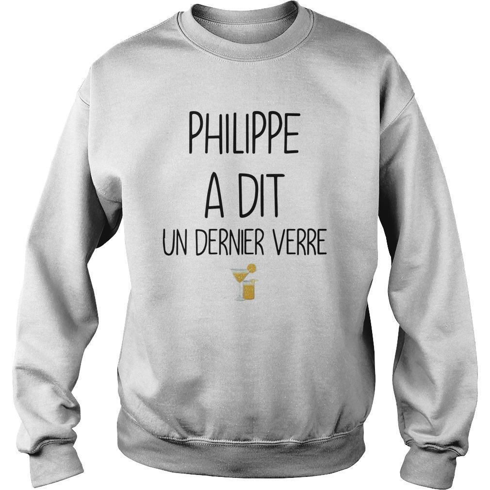 Philippe A Dit Un Dernier Verre Sweater