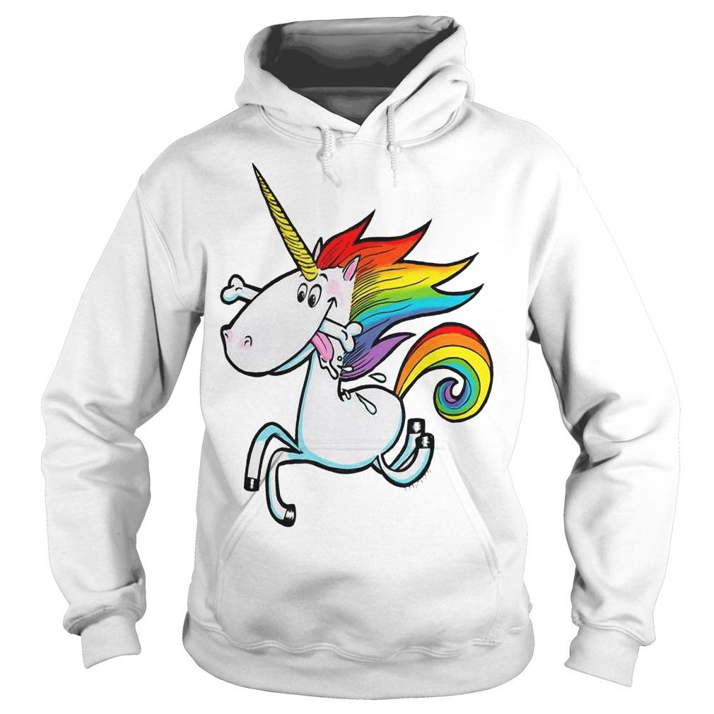 Rainbow Unicorn With Dog Bone Hoodie