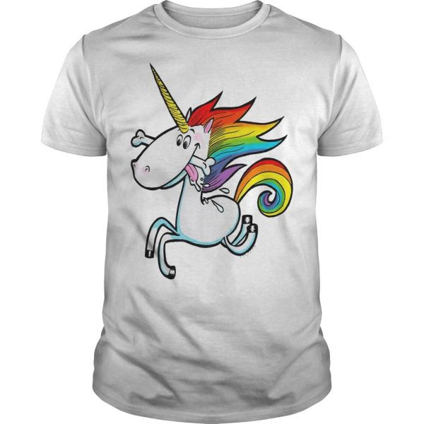 Rainbow Unicorn With Dog Bone Shirt