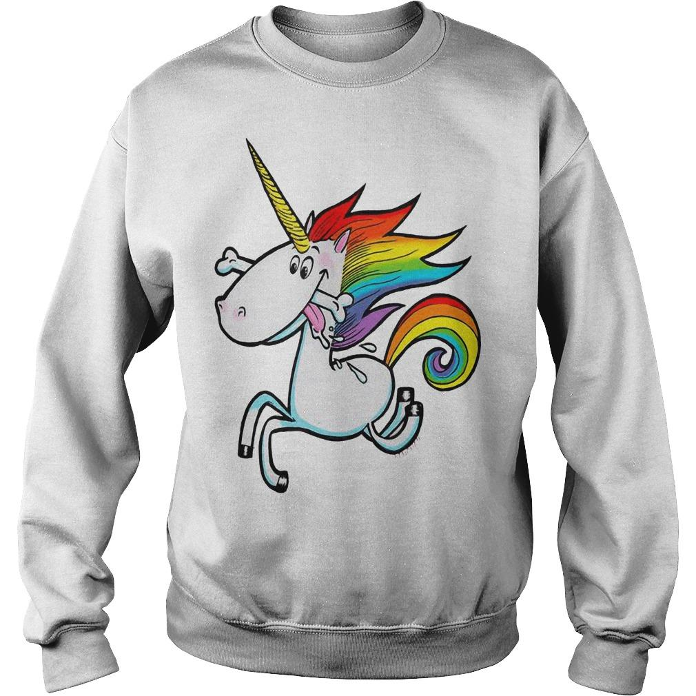Rainbow Unicorn With Dog Bone Sweater