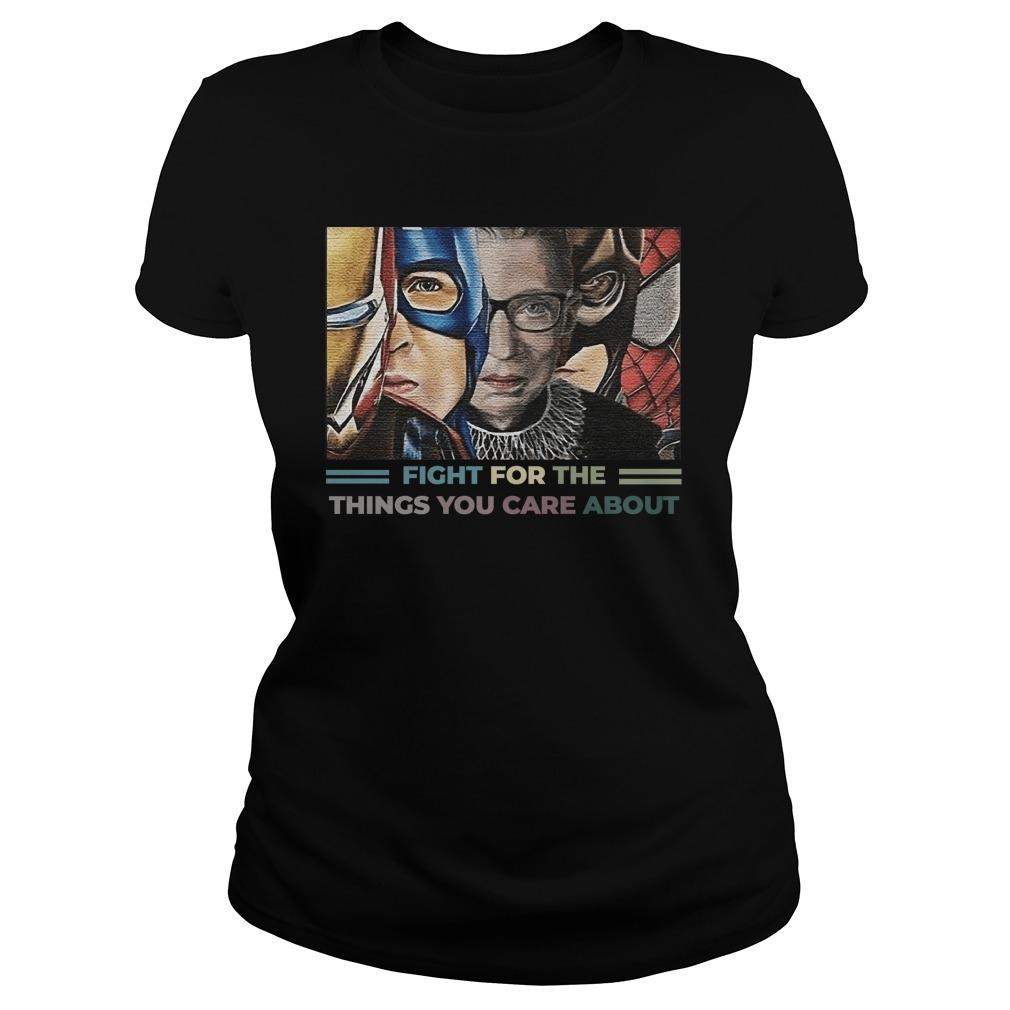 Rbg Iron Man Captain Fight For The Things You Care About Longsleeve