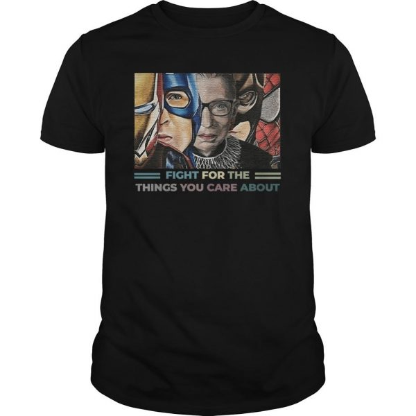 Rbg Iron Man Captain Fight For The Things You Care About Shirt