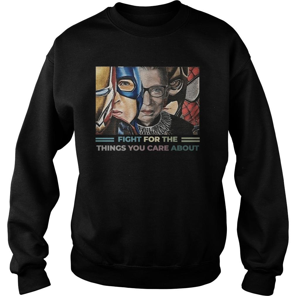Rbg Iron Man Captain Fight For The Things You Care About Sweater