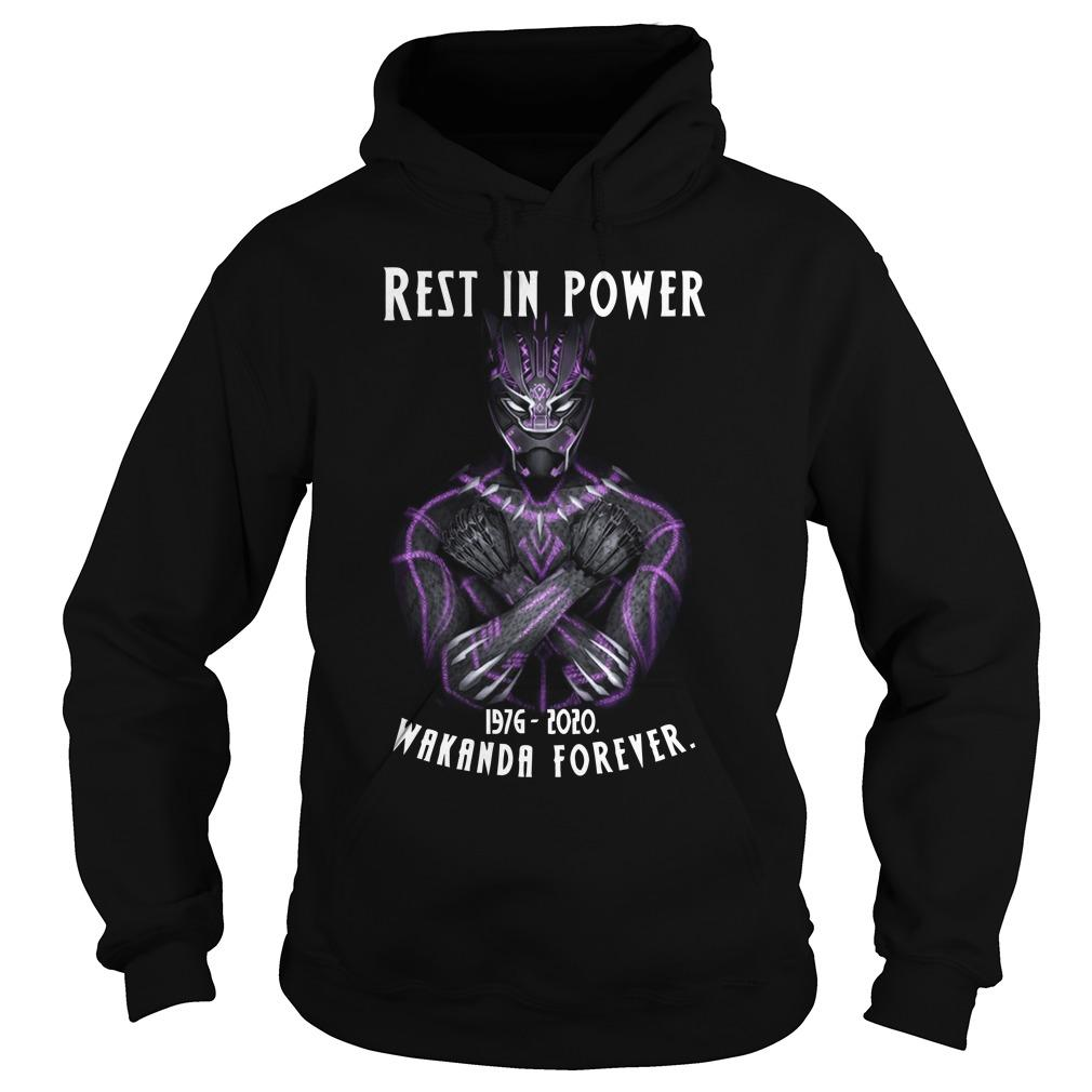 Rest In Power 1976 2020 Wakanda Forever Hoodie