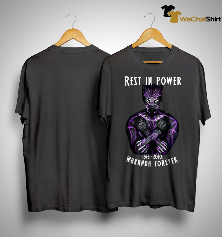 Rest In Power 1976 2020 Wakanda Forever Shirt
