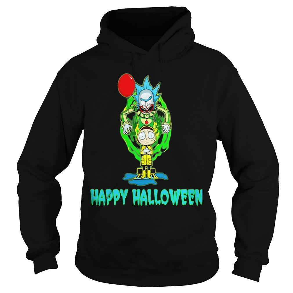 Rick And Morty It Happy Halloween Hoodie