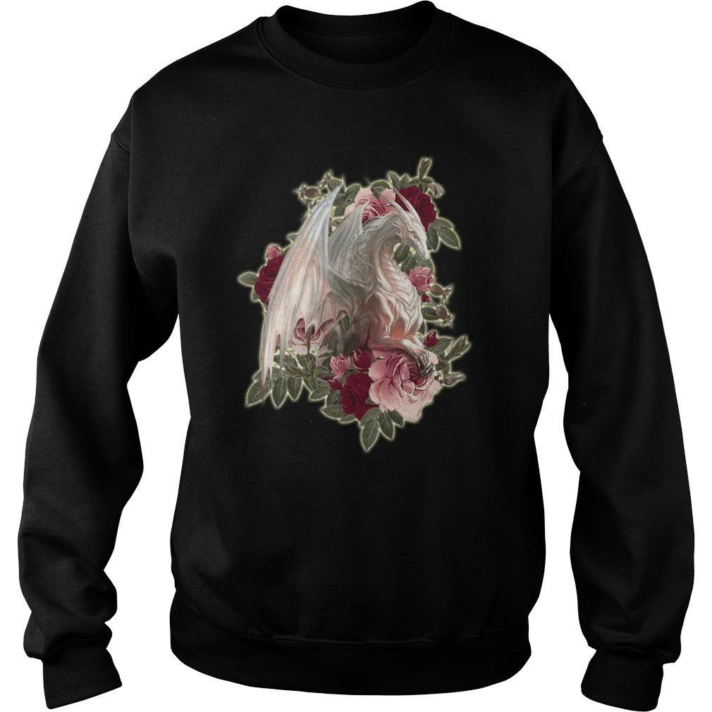 Rose White Dragon Sweater