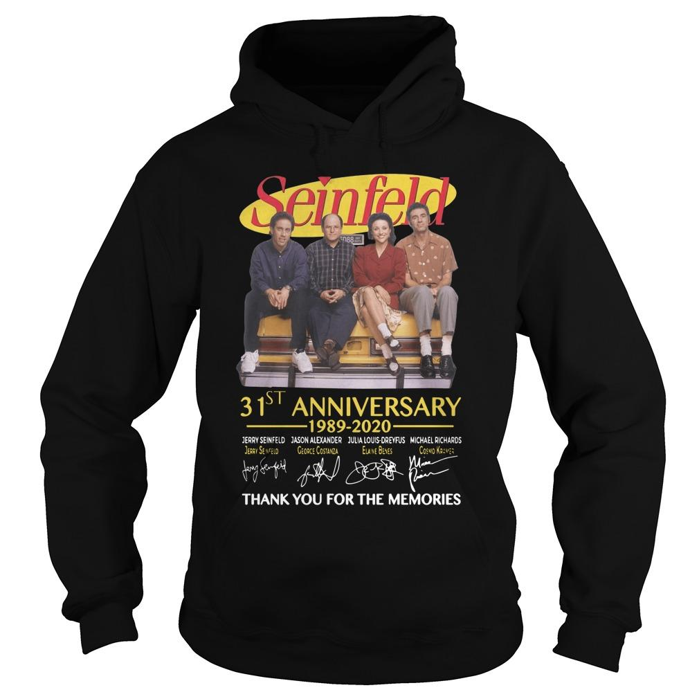 Seinfeld 31st Anniversary 1989 2020 Thank You For The Memories Hoodie
