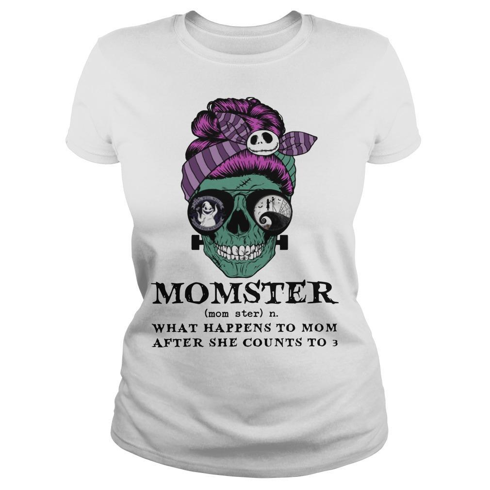Skull Momster What Happens To Mom After She Counts To 3 Longsleeve