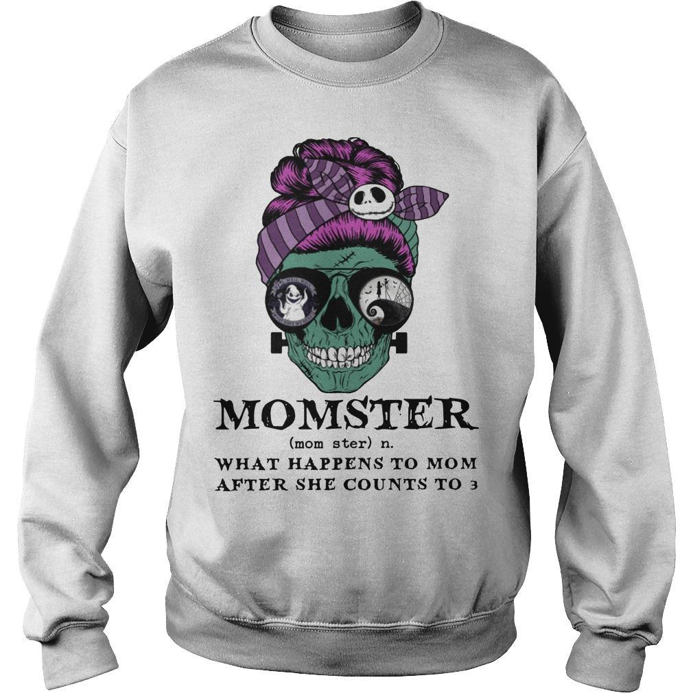 Skull Momster What Happens To Mom After She Counts To 3 Sweater