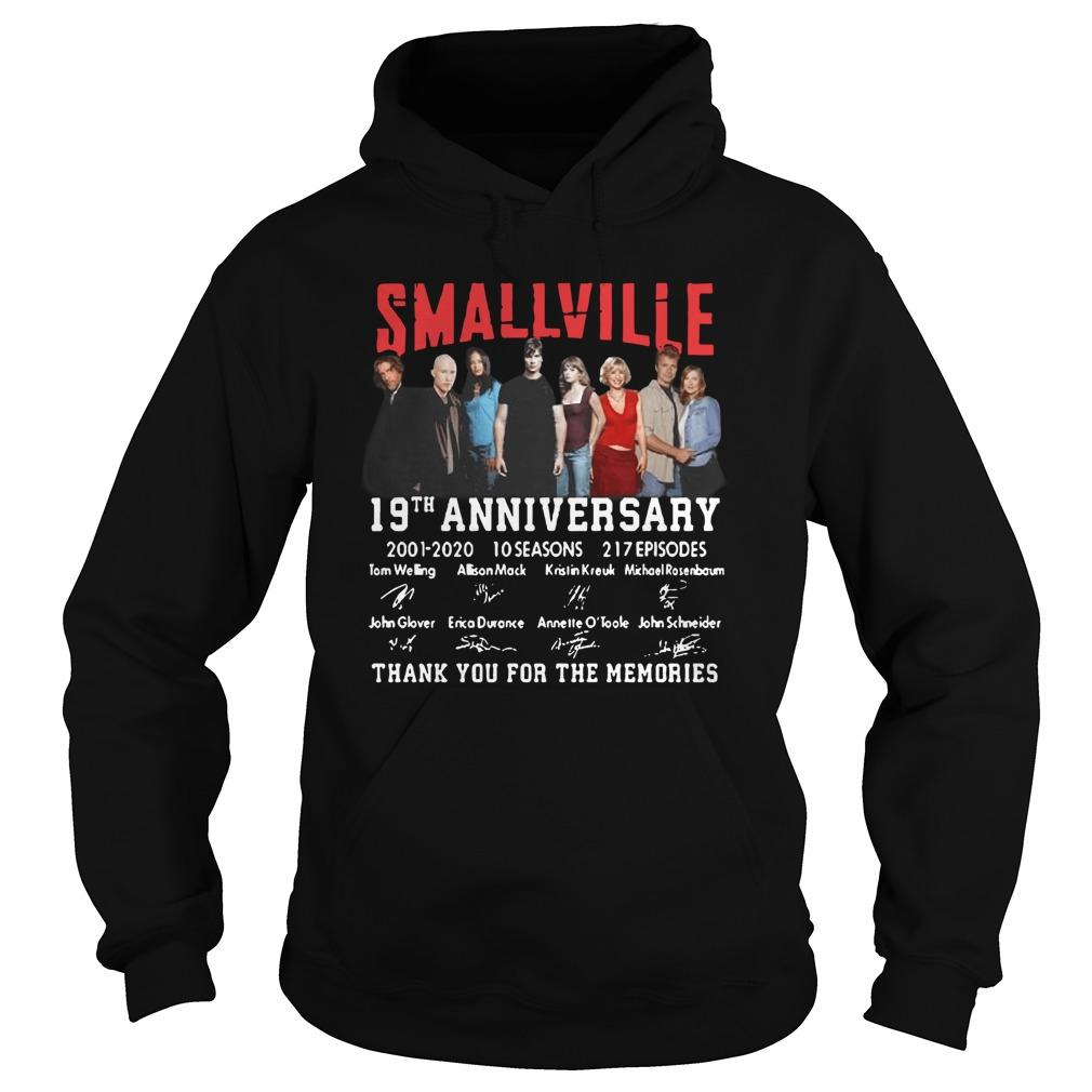 Smallville 19th Anniversary 2001 2020 Thank You For The Memories Hoodie