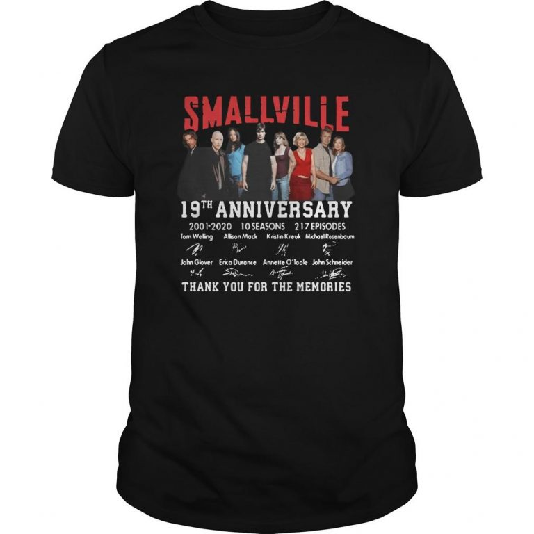 Smallville 19th Anniversary 2001 2020 Thank You For The Memories Shirt