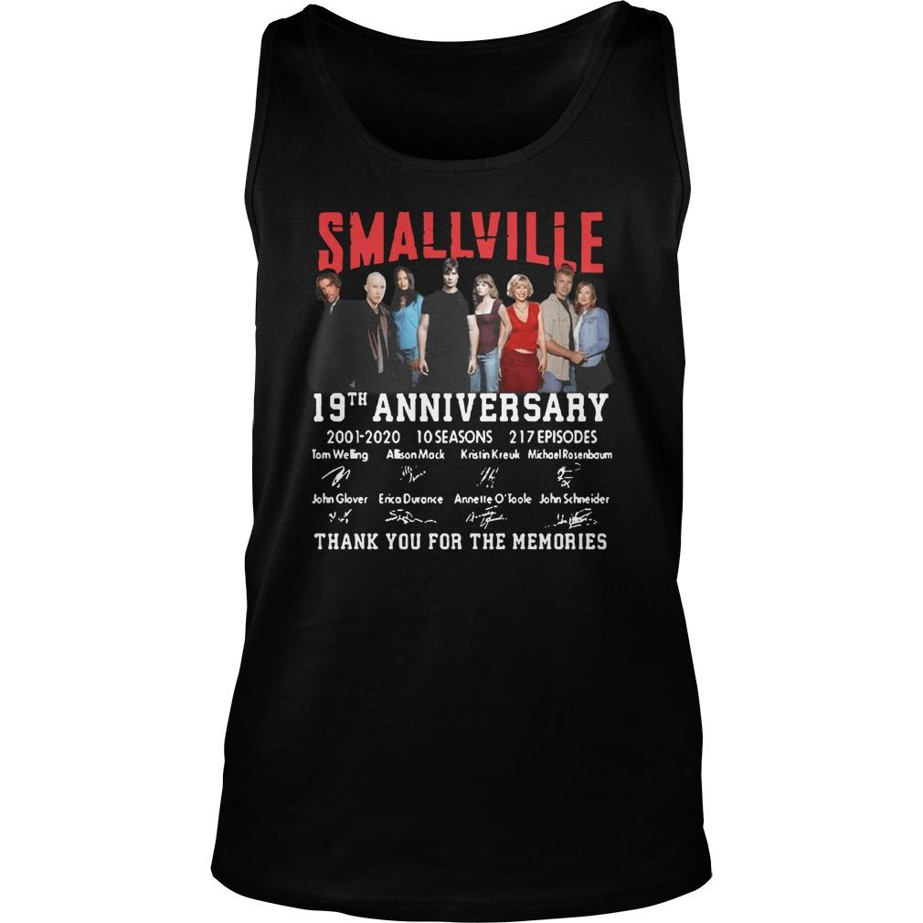Smallville 19th Anniversary 2001 2020 Thank You For The Memories Tank Top