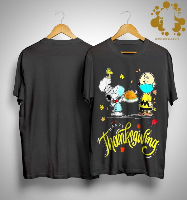 Snoopy And Charlie Brown Face Mask Happy Thanksgiving Shirt