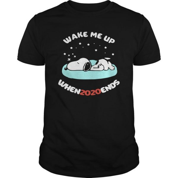 Snoopy Wake Me Up Whenzozoends Shirt