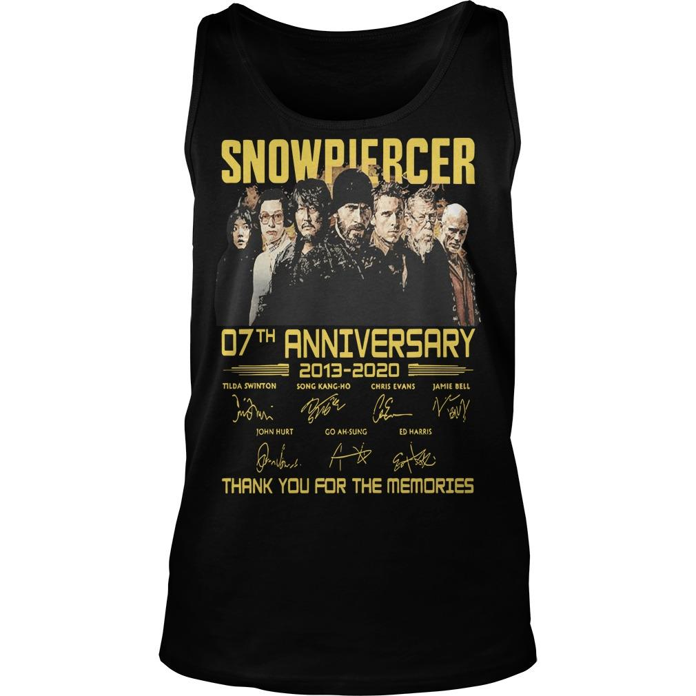 Snowpiercer 07th Anniversary 2013 2020 Thank You For The Memories Tank Top