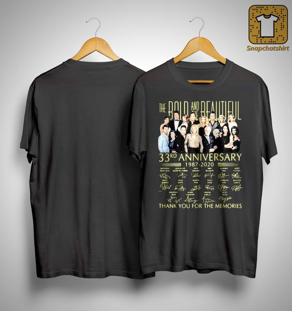 The Bold And The Beautiful 33rd Anniversary Thank You For The Memories Shirt
