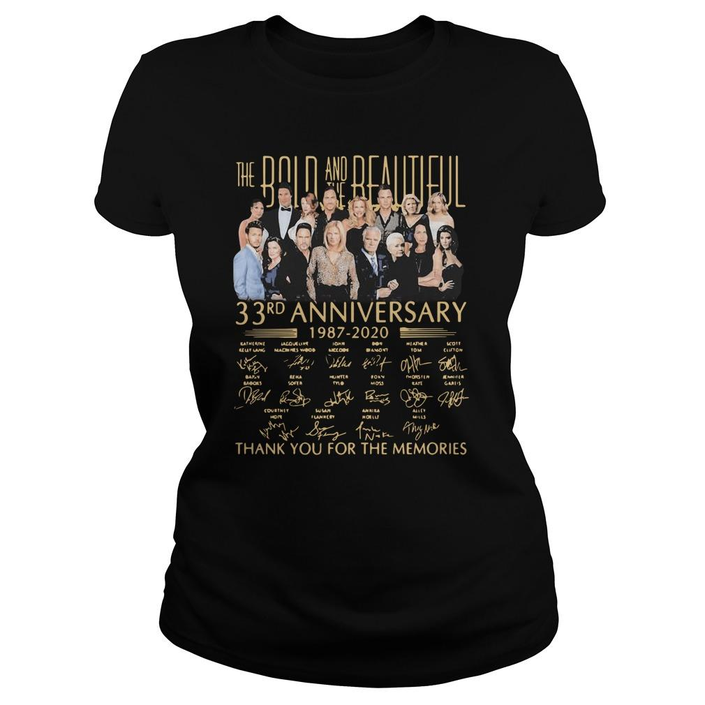 The Bold And The Beautiful 33rd Anniversary Thank You For The Memories Tank Top