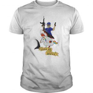 Unicorn Fear No Shark Shirt