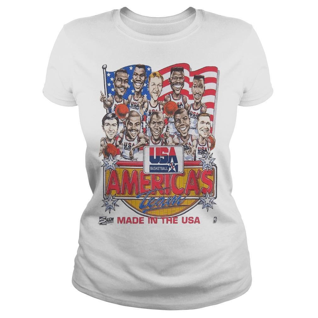 Usa Basketball America's Team Made In The Usa Longsleeve
