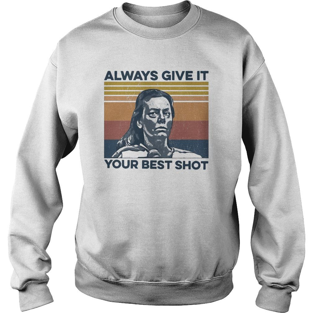 Vintage Always Give It Your Best Shot Sweater