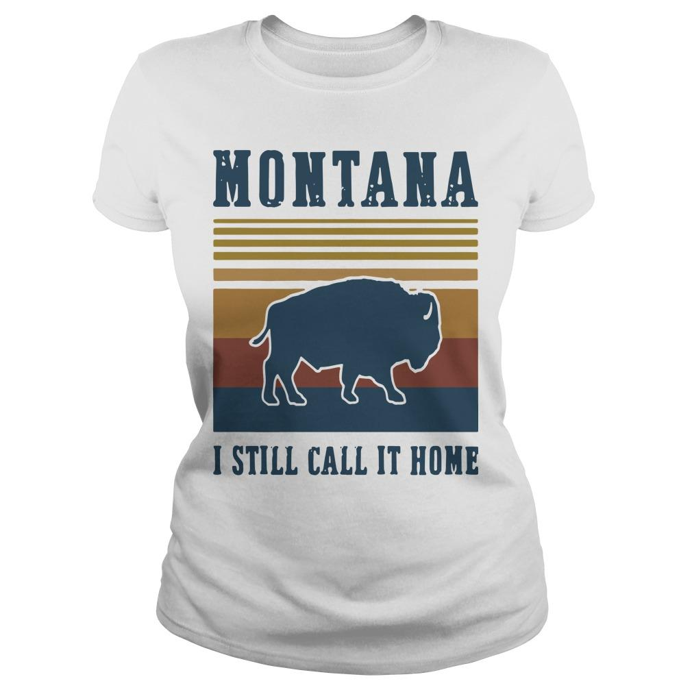Vintage American Bison Montana I Still Call It Home Longsleeve