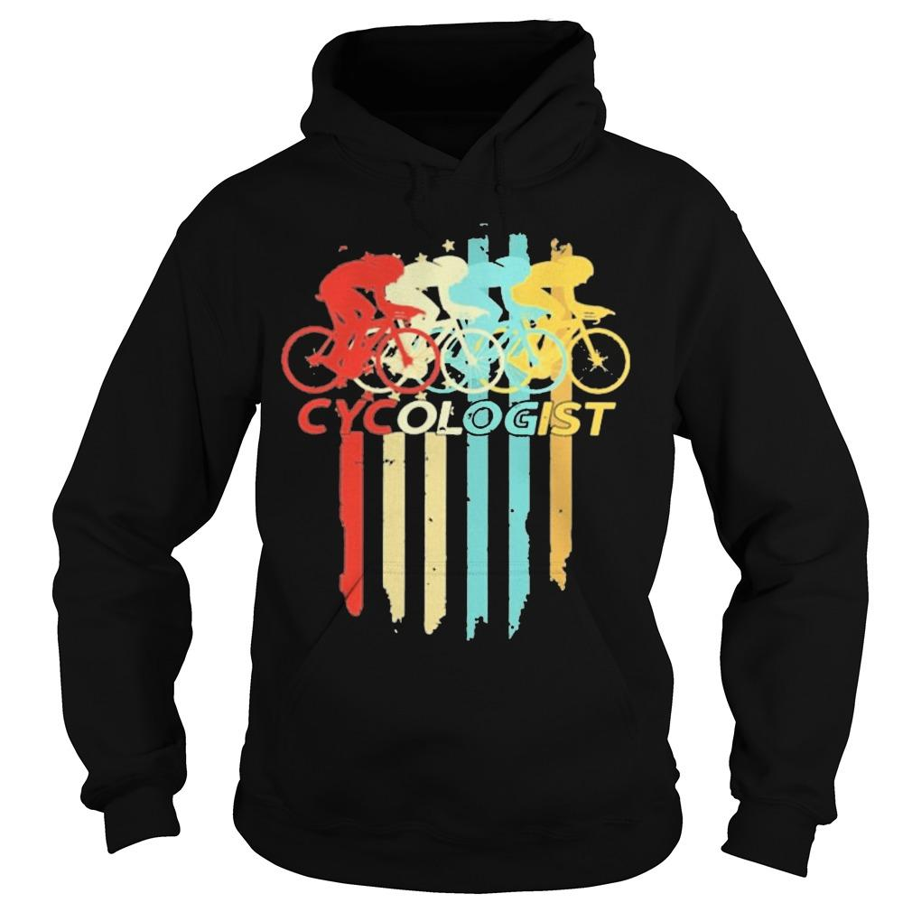 Vintage Bicycle Cycling Cycologist Hoodie