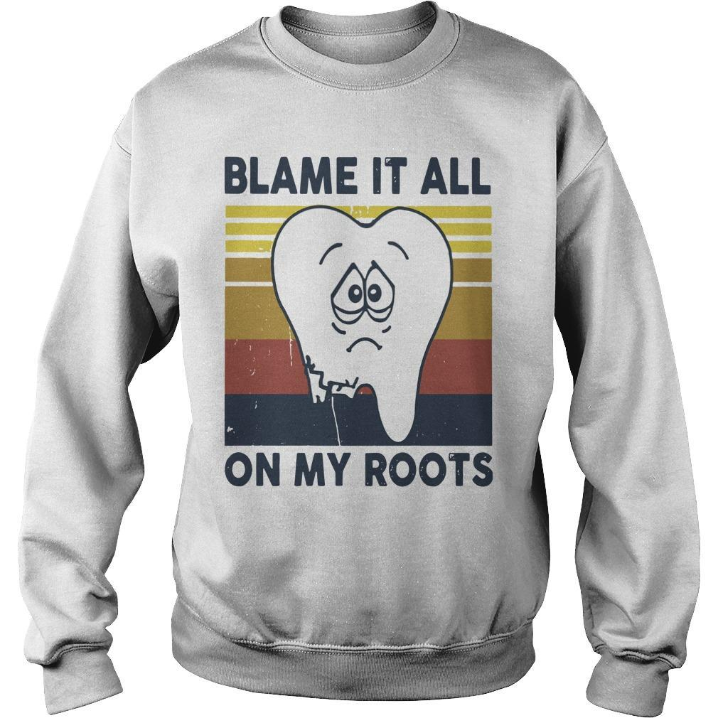 Vintage Blame It All On My Roots Sweater