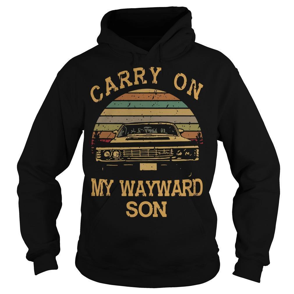Vintage Carry On My Wayward Son Hoodie