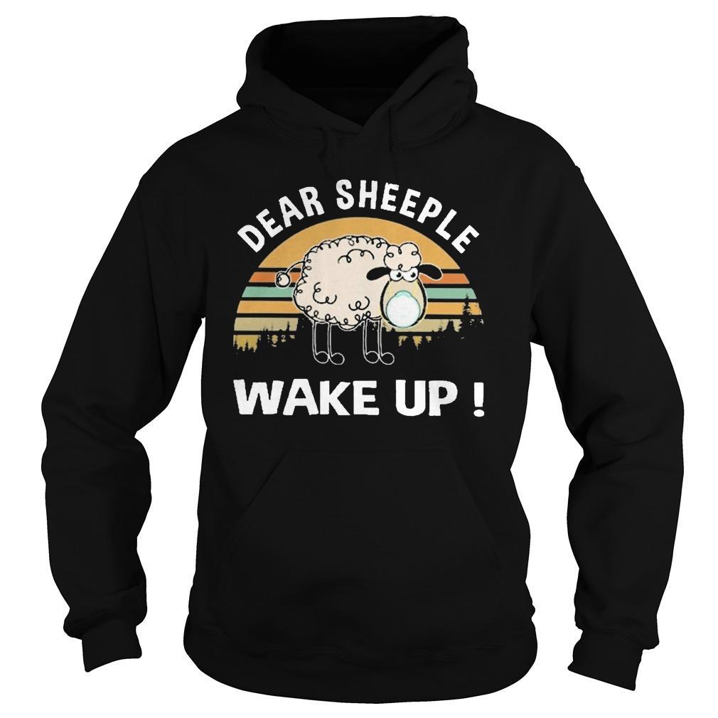Vintage Dear Sheeple Wake Up Hoodie